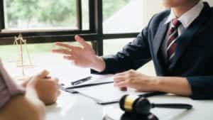 Lawyer Providing Legal Advice To A Client Privately