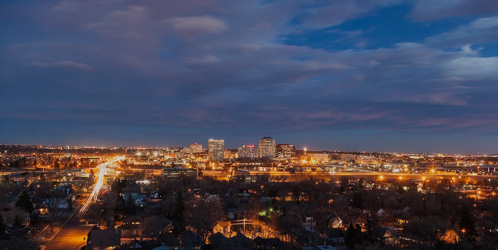 View of Colorado Springs at night