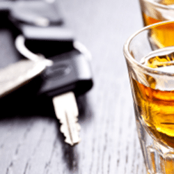 Car Keys and Alcohol Stock Photo