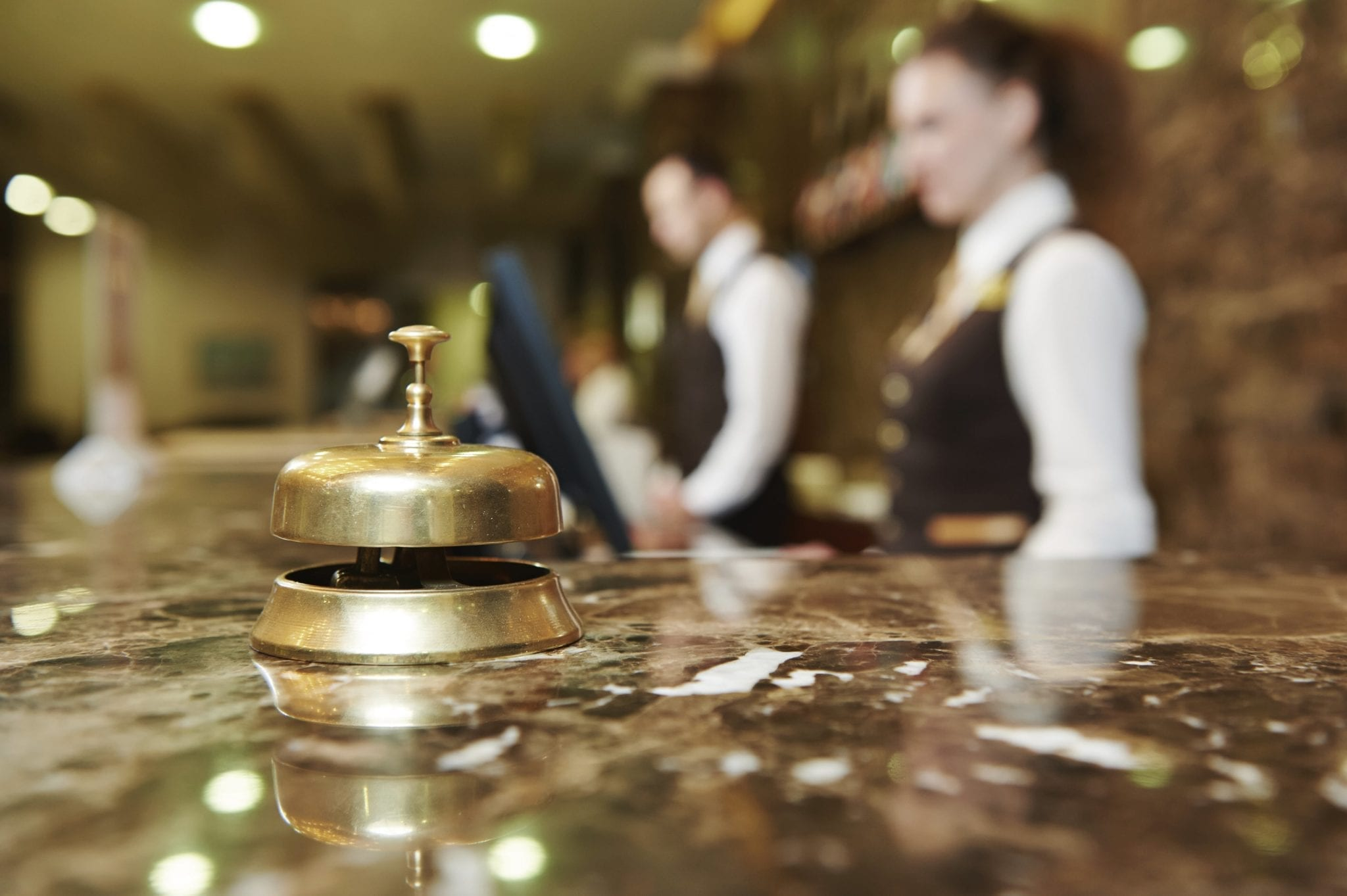 Hotel Front Desk Staff Stock Photo
