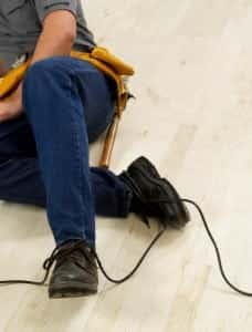 Injured Male Construction Worker Stock Photo