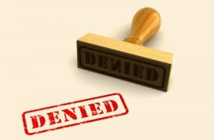 Denied Stamp Stock Photo