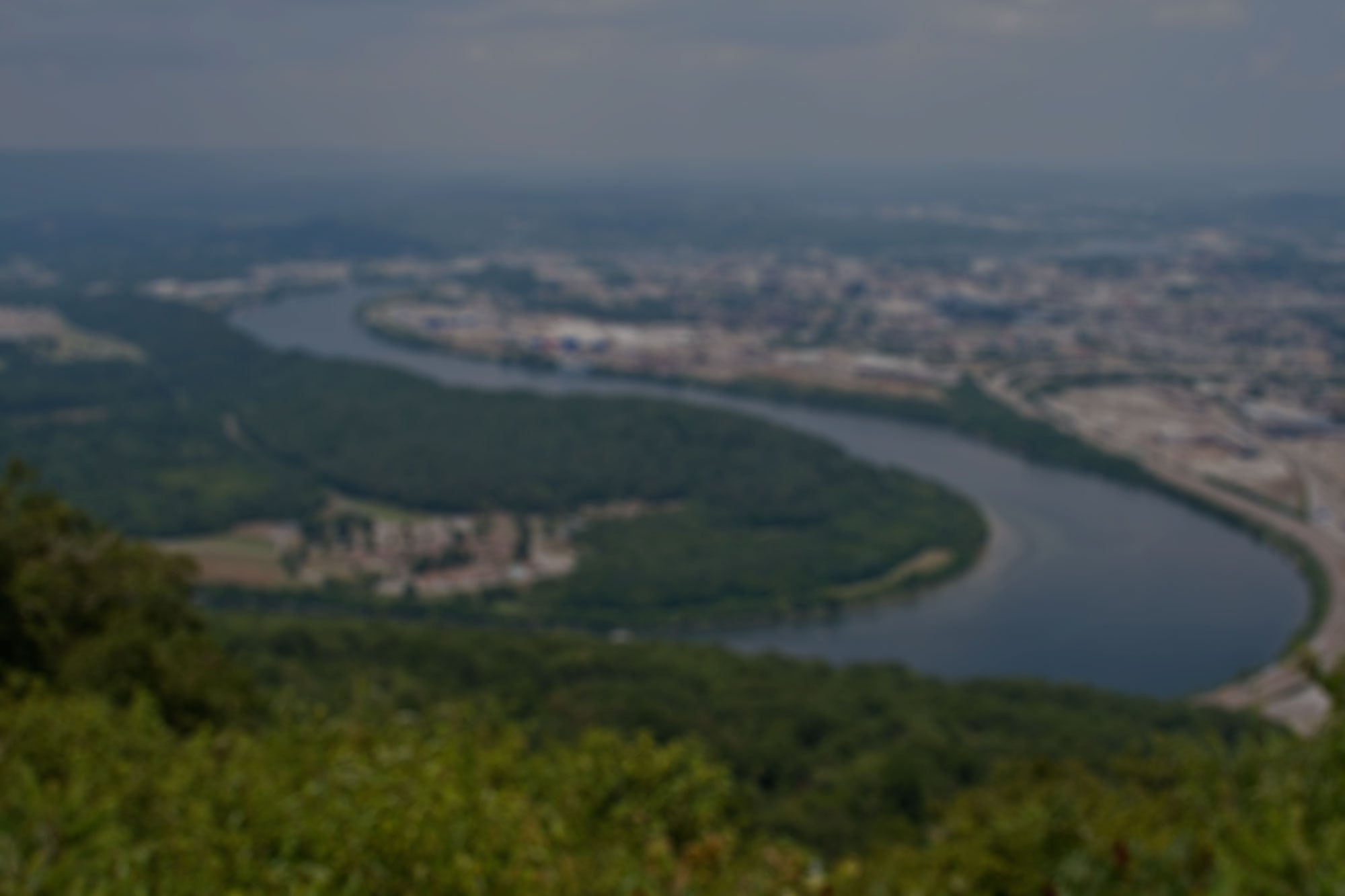 Chattanooga, Tennessee Aerial Photo From Lookout Mountain