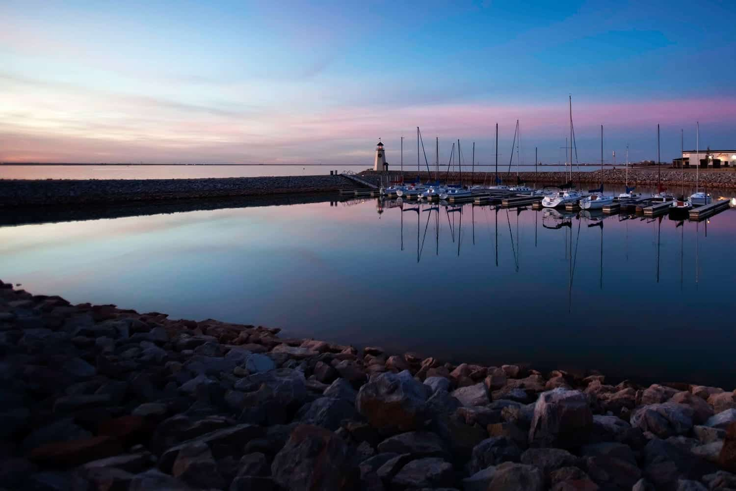 Lake Hefner, Oklahoma Stock Photo