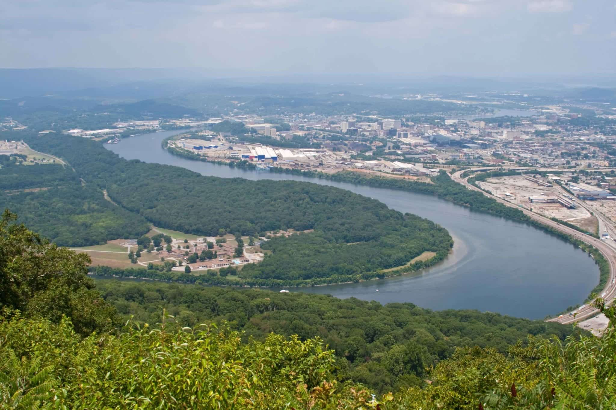 Downtown Chattanooga From Lookout Mountain