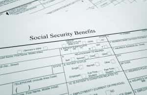 Social Security Benefits Form Stock Photo