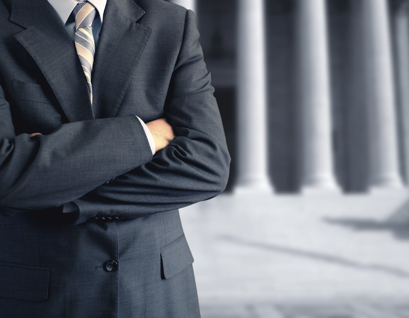 Attorney With Arms Crossed Stock Photo