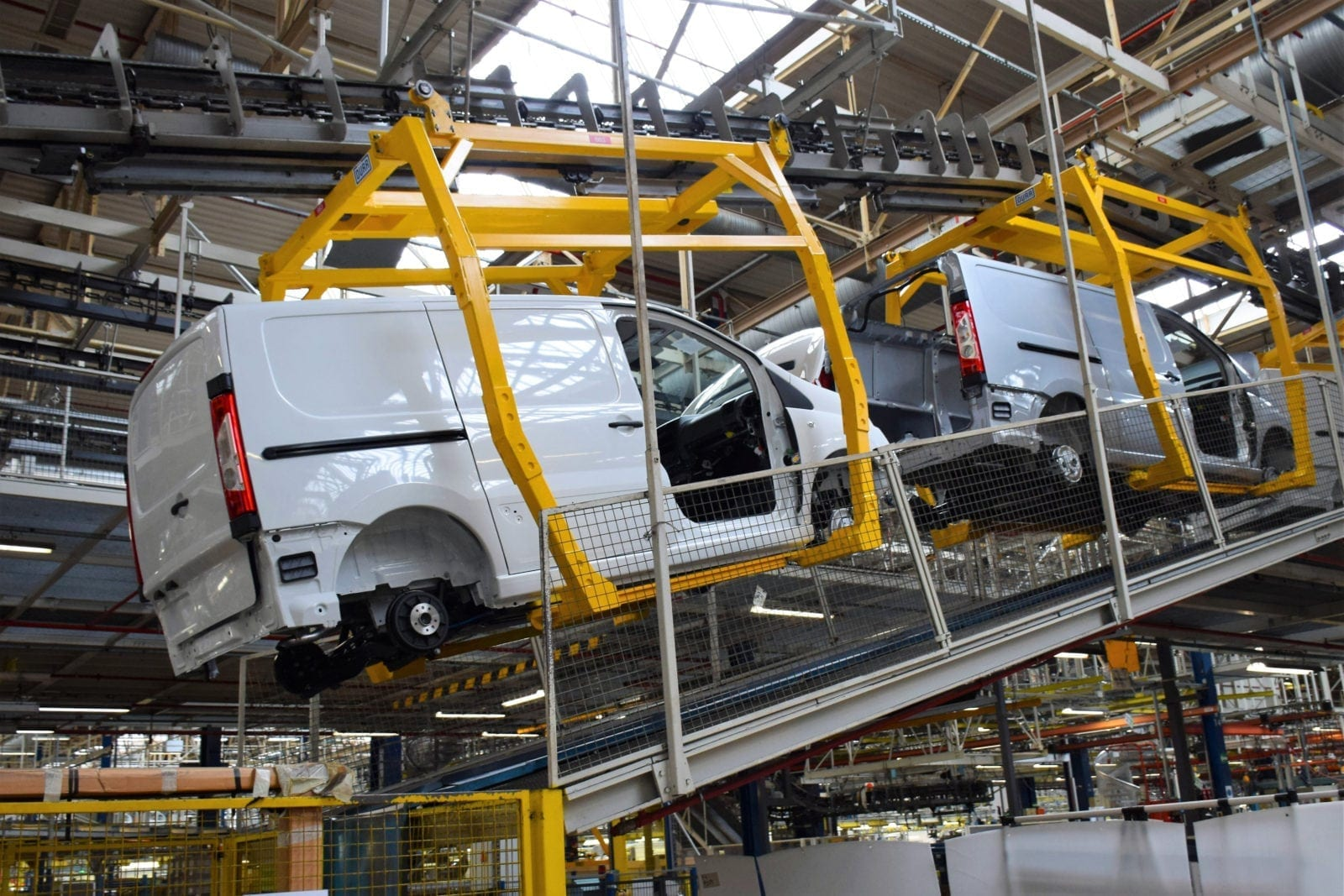 Cargo Vans On A Factory Assembly Line Stock Photo