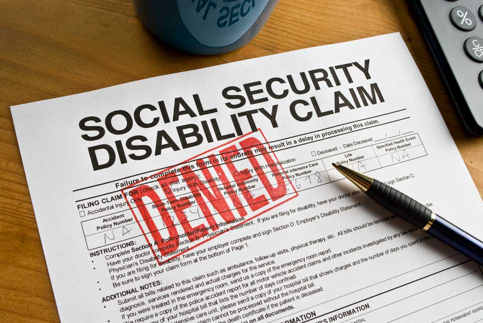 denied social security disability form