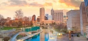 Downtown Indianapolis, Indiana Skyline Stock Photo