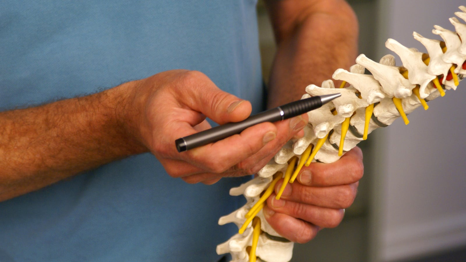 Doctor Spinal Cord Injury Stock Photo