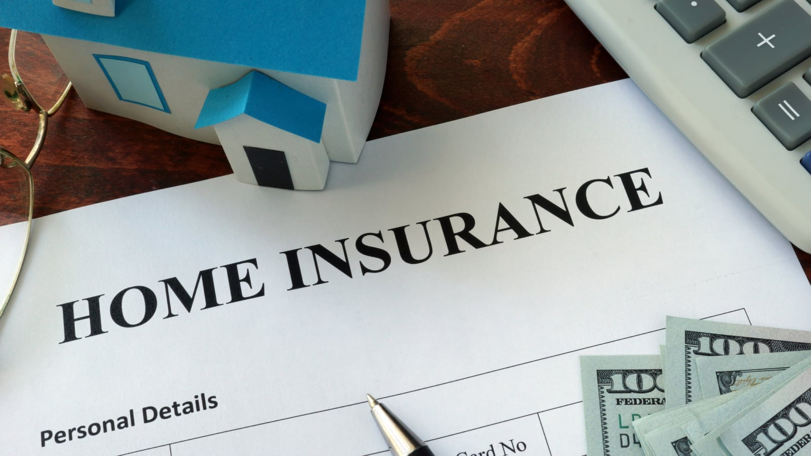 Home Insurance Form Stock Photo