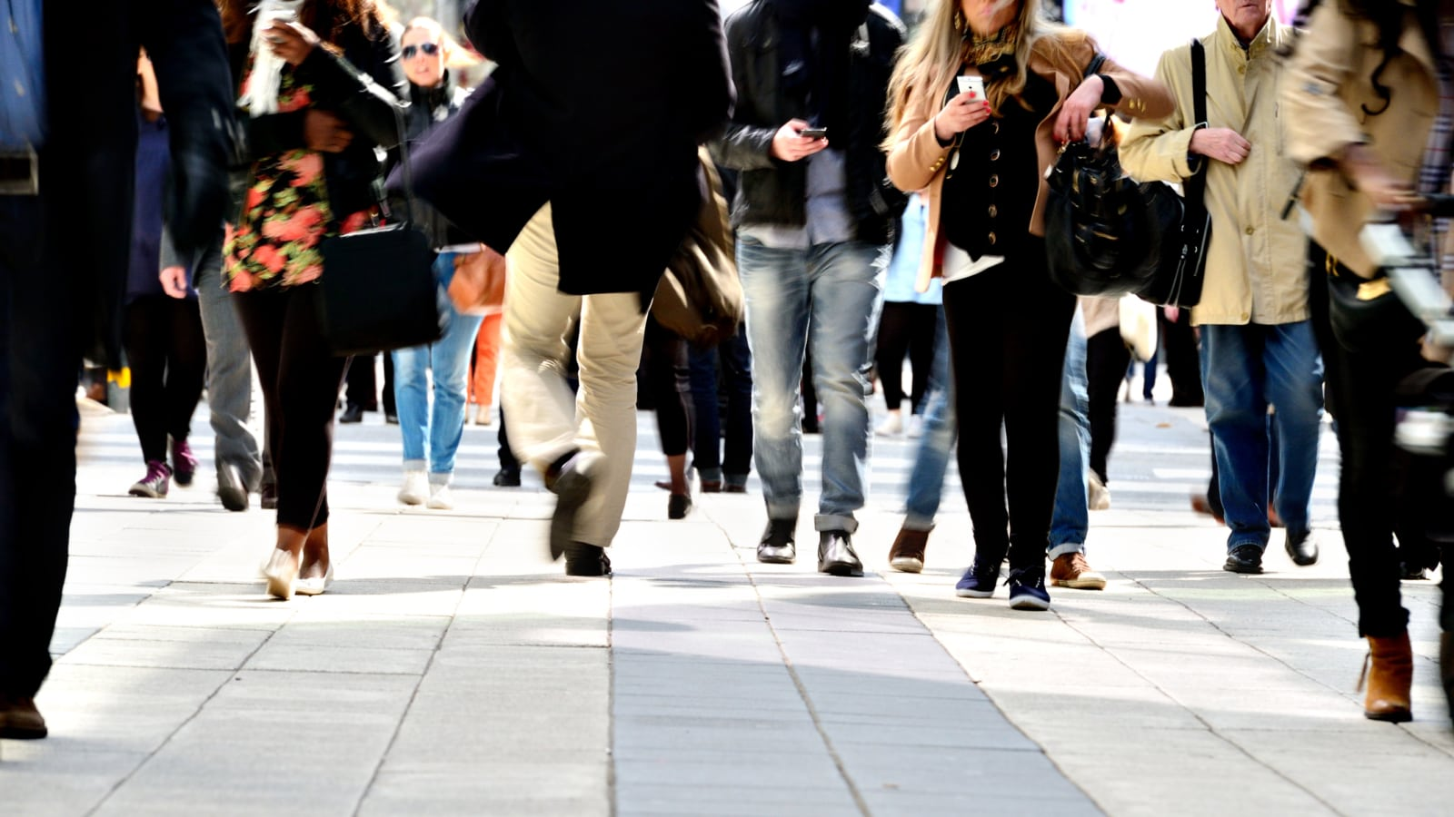 Crowded Streets Stock Photo