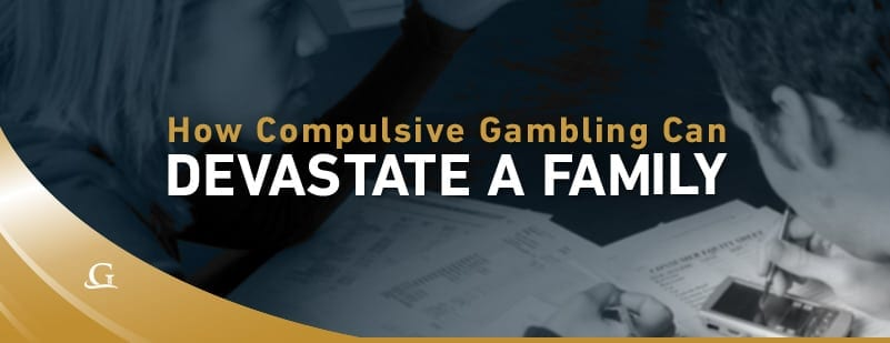 Compulsive Gambling Can Devastate A Family Stock Photo