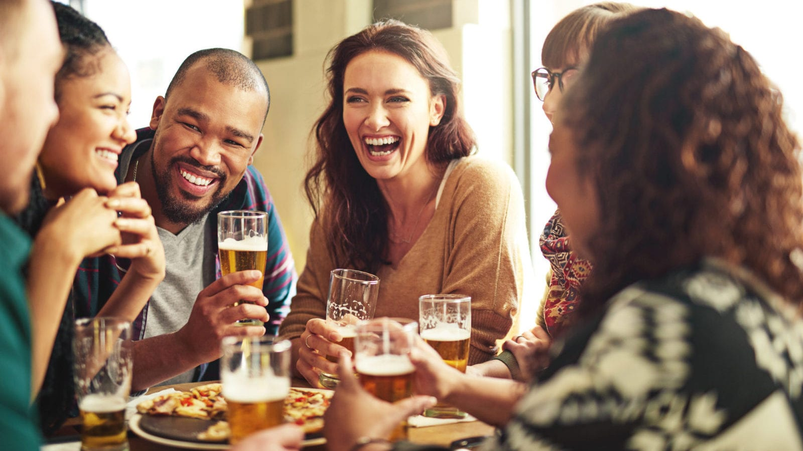 Friends Drinking Alcohol Stock Photo