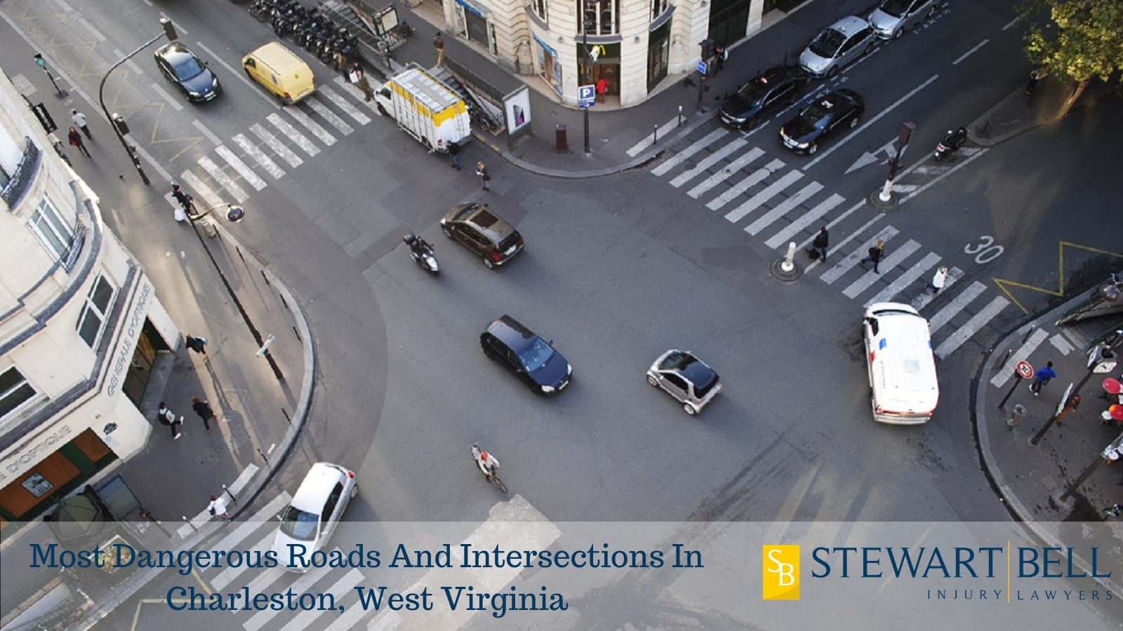 Busy Intersection Stock Photo