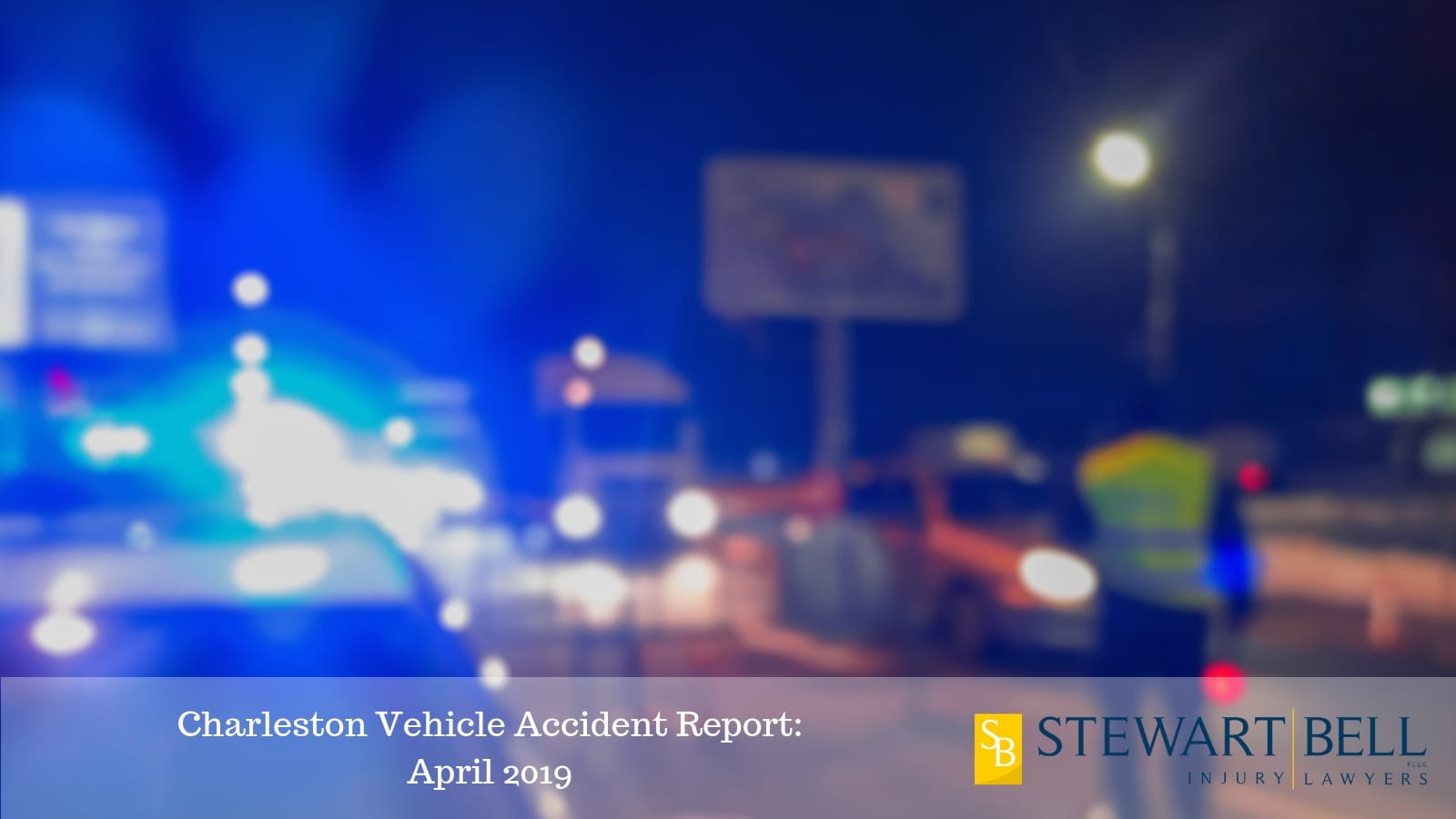 Car Accident At Night Stock Photo