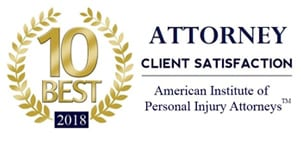 """Attorney Jeff Hunter nominated """"10 Best Attorneys 2018"""" for Client Satisfaction"""