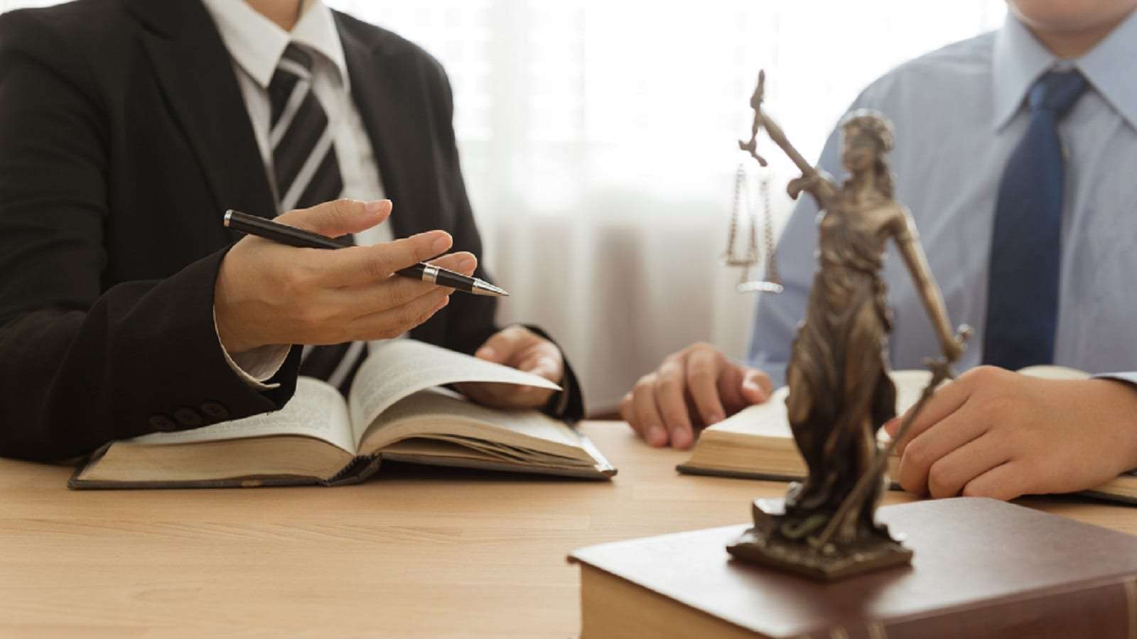 Lady Justice Statue Stock Photo
