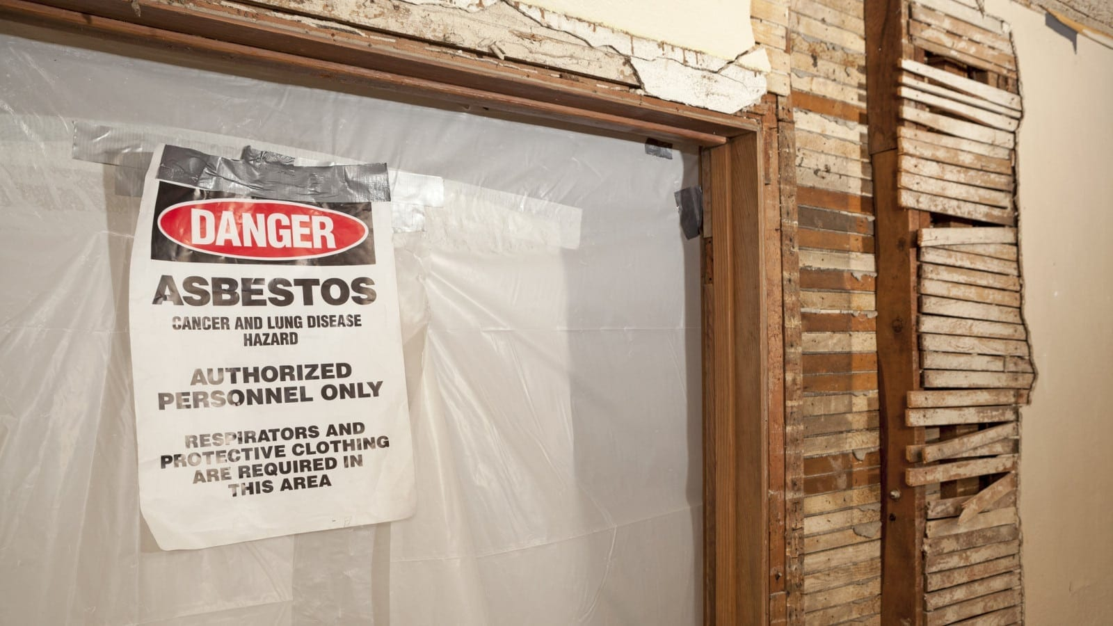 Asbestos Contaminated Area Stock Photo