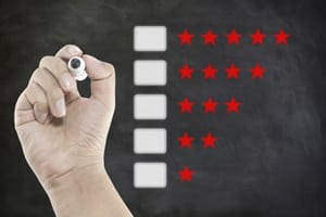Star Ratings System Stock Photo