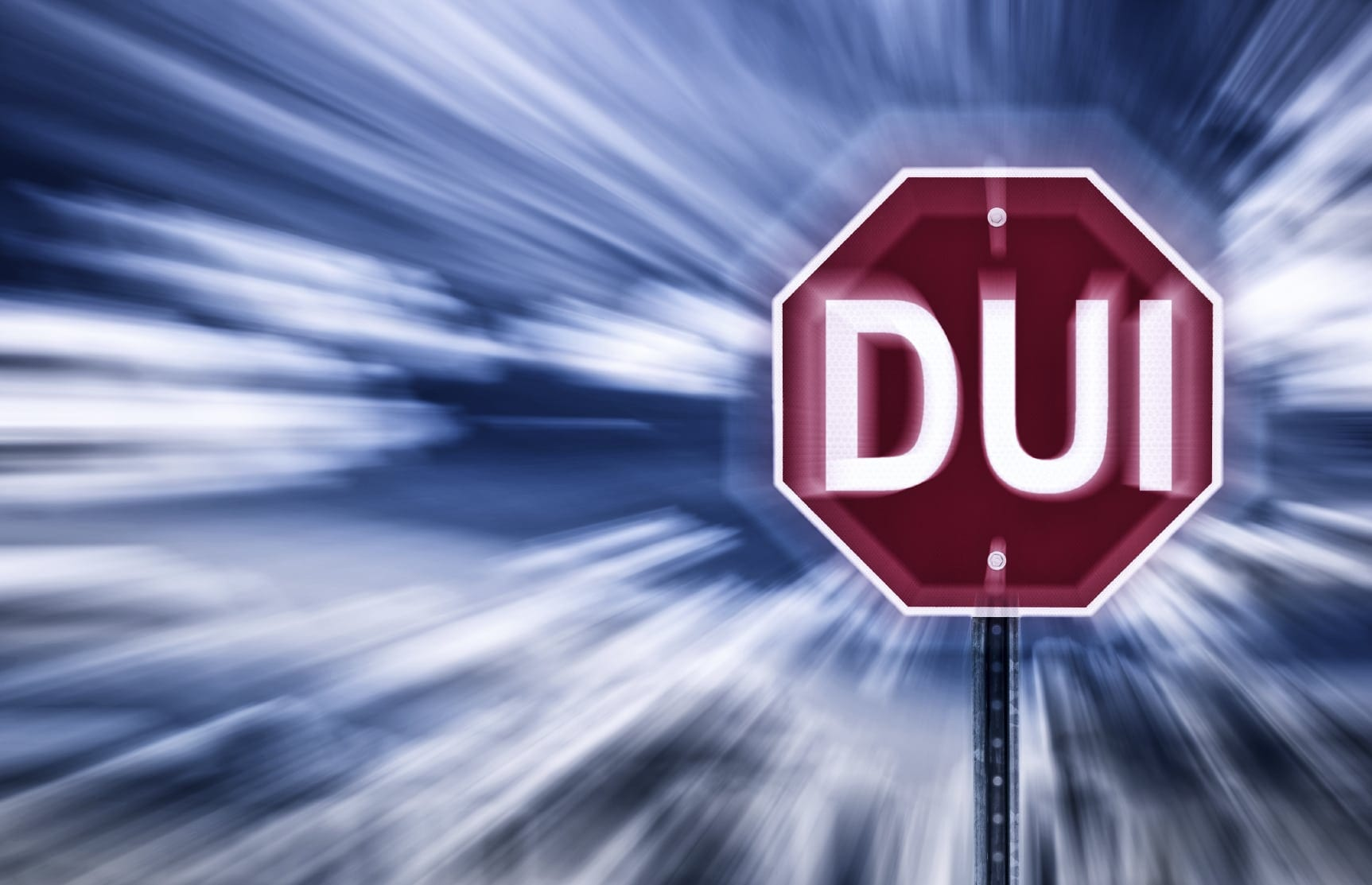 """Stop Sign That Reads """"DUI"""" Stock Photo"""