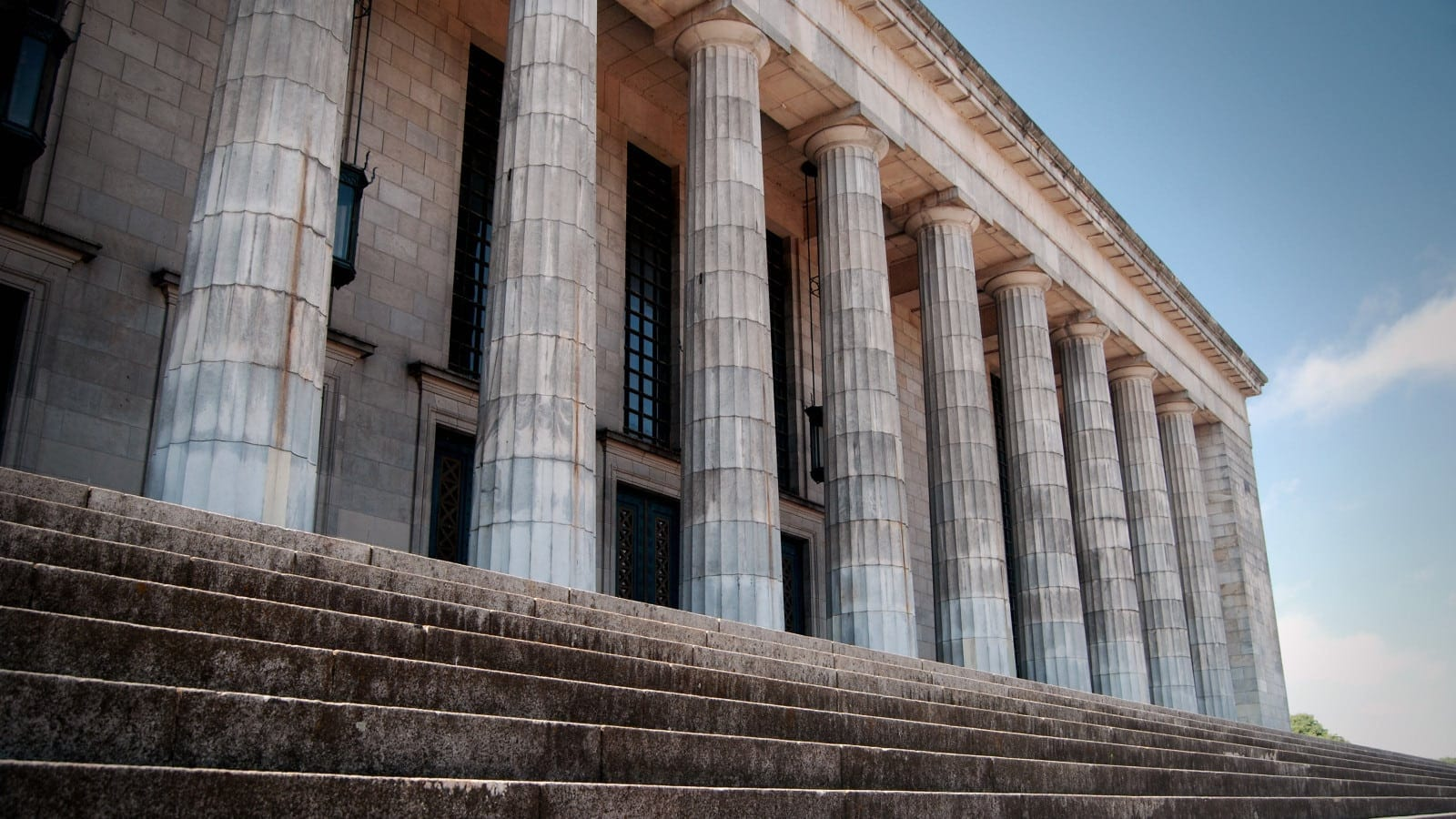 Exterior Of Large Courthouse Stock Photo