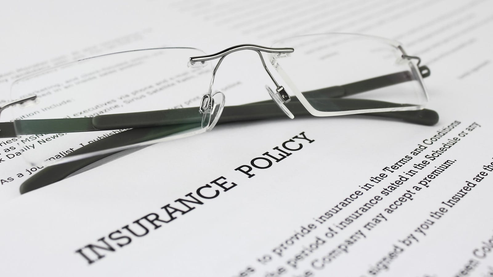 Insurance Policy Forms Stock Photo