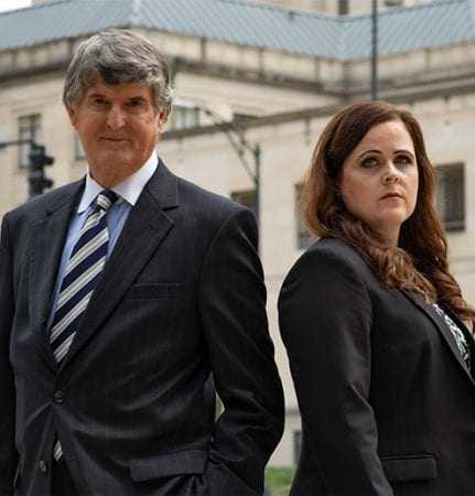 Attorneys Mike Lewis and Lea Keller