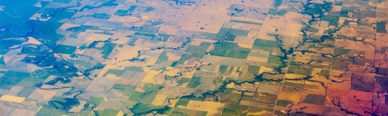 Aerial Photo Of Rural Area In North Carolina Stock Photo