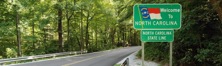 Welcome To North Carolina Road Sign