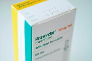Box Of Risperdal Tablets Stock Photo